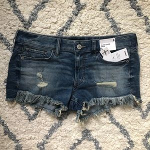 Express Relaxed Low Rise Shortie Shorts